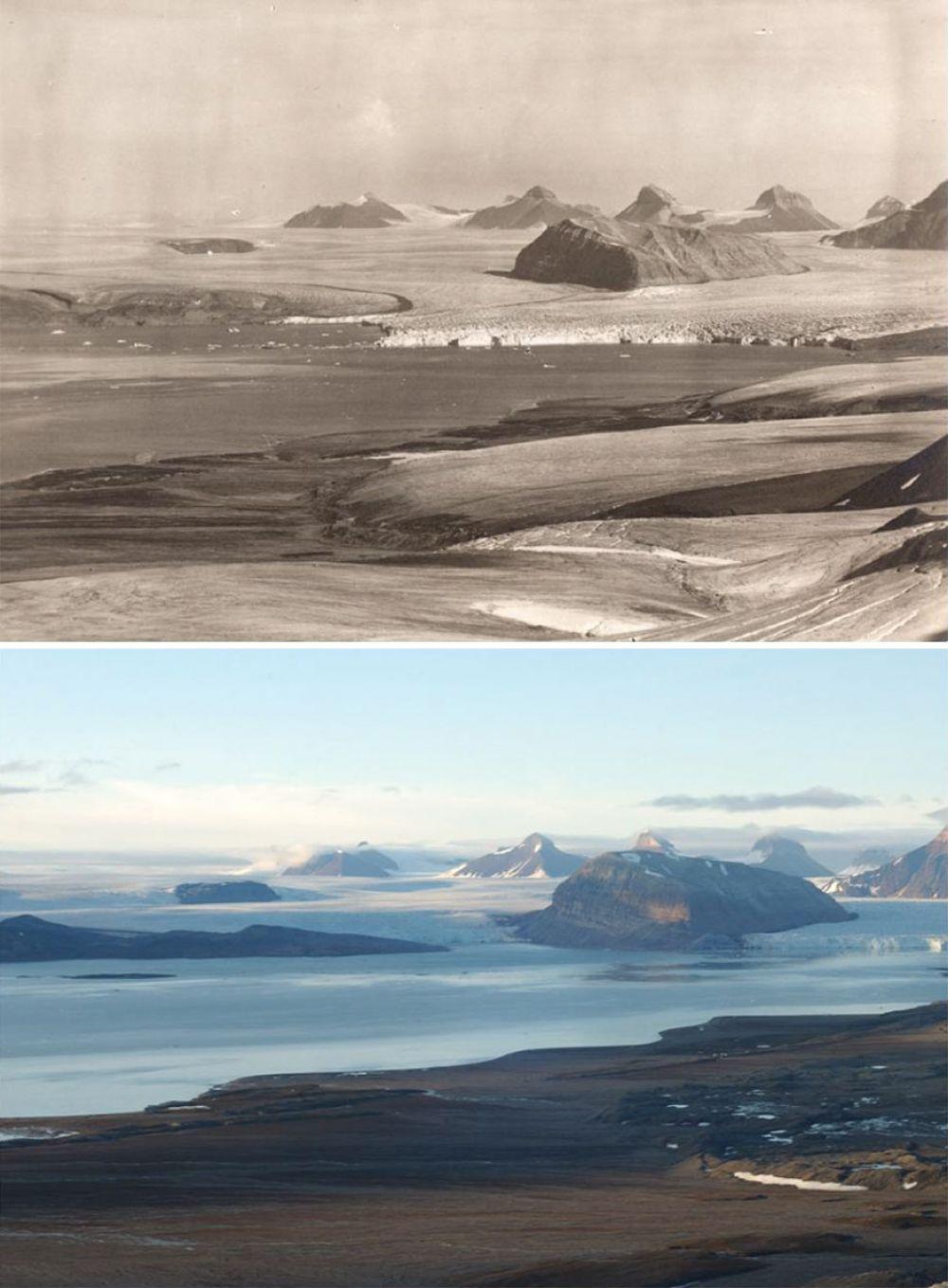 В начале прошлого века архипелаг Шпицберген почти полностью был покрыт льдом