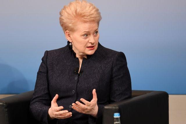 Грибаускайте предложила перенести штабы НАТО кграницамРФ