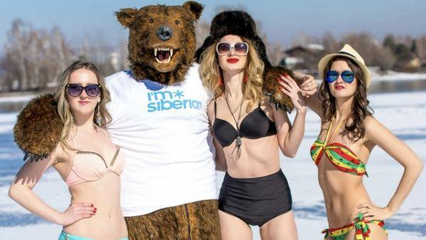Единственным мужчиной акции стал медведь.