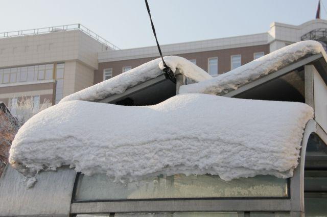 Крыша была очищена не должным образом от снега.