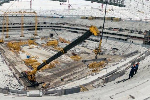 «Ростов-Арена» строится скорее других стадионов кЧМ