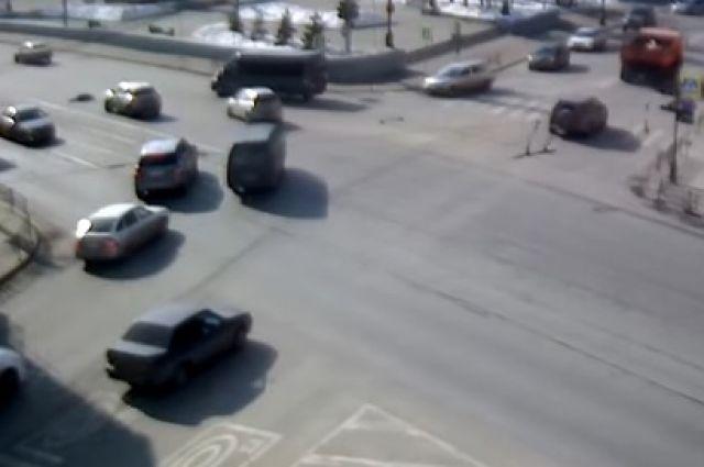 ДТП с пешеходом в Иркутске.