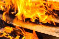 В загоревшемся доме находились трое детей.