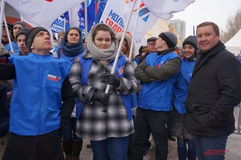 На концерт пришли общественные и политические организации.