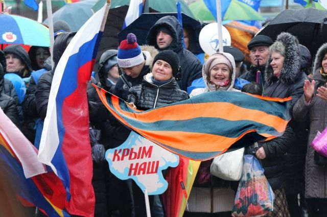 На митинге в честь присоединения Крыма насчитали 8 тысяч калининградцев.