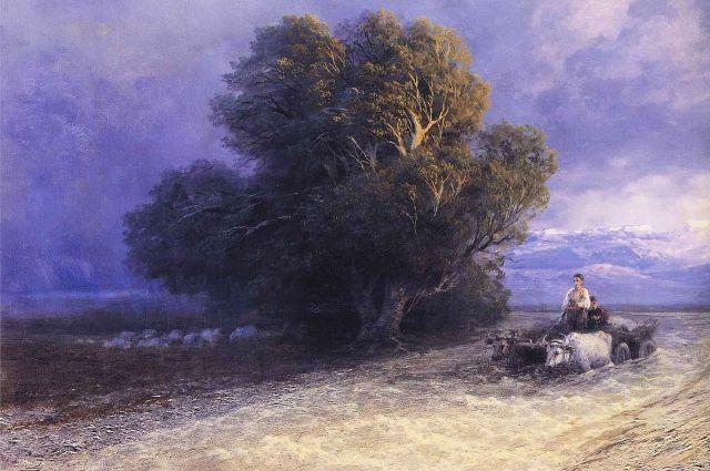 Фото картины Ивана Айвазовского.