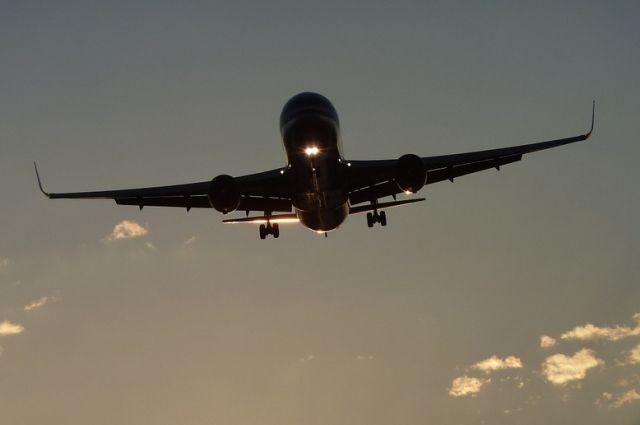 На борту самолета были 44 пассажира.