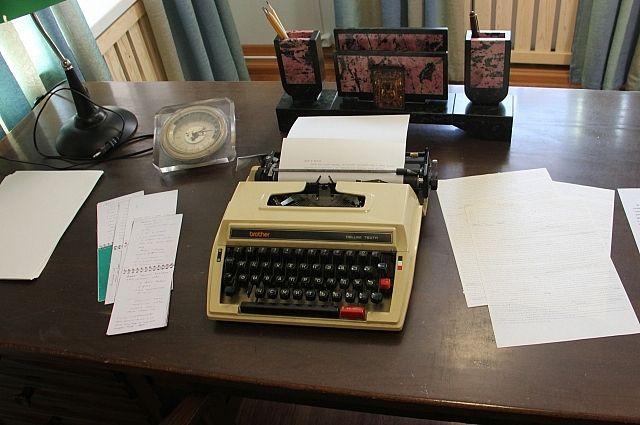 Кабинет писателя перенесли в музей.