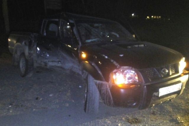 Автомобиль, поврежденный в ДТП в Иркутском районе.