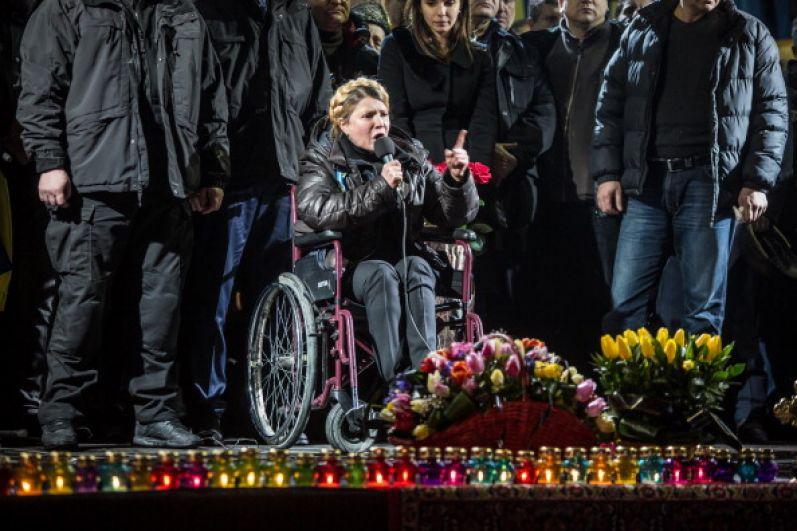 После выхода из тюрьмы Юлия Тимошенко была прикована к инвалидной коляске из-за проблем со спиной