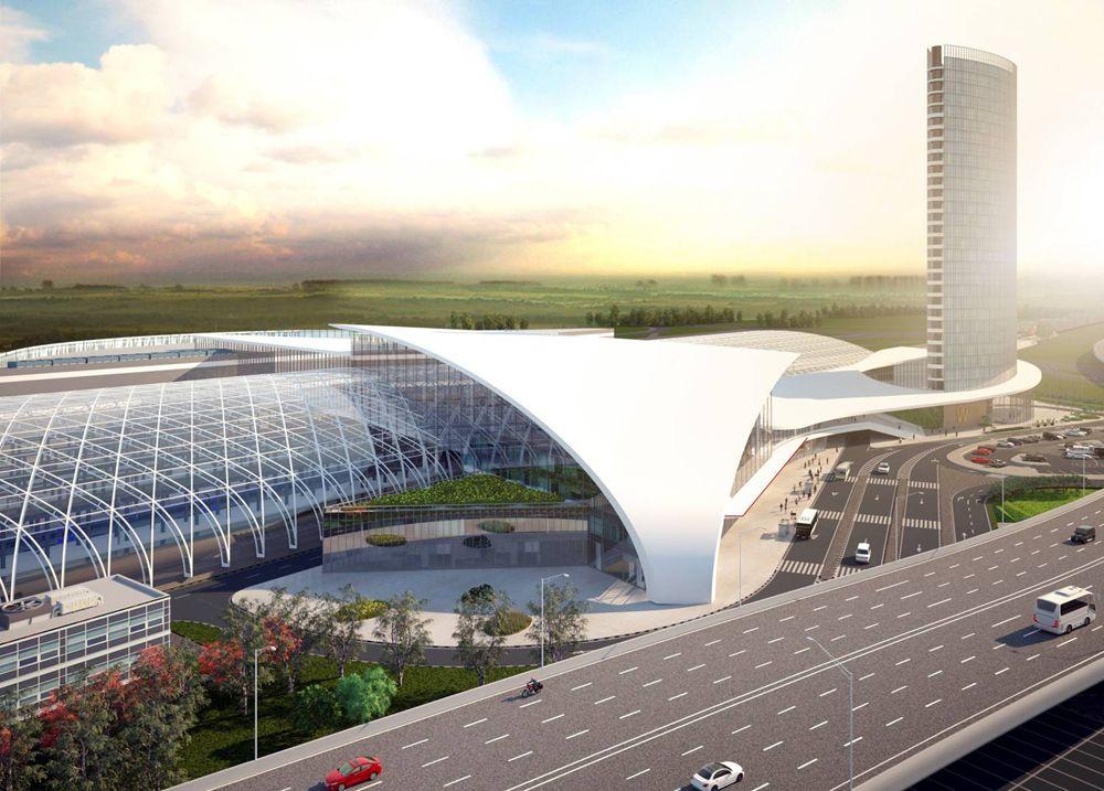 Объединённый вокзал будет состоять из четырёх надземных уровней. Самый верхний – с залом ожидания для пассажиров ВСМ - расположится над путями ВСМ