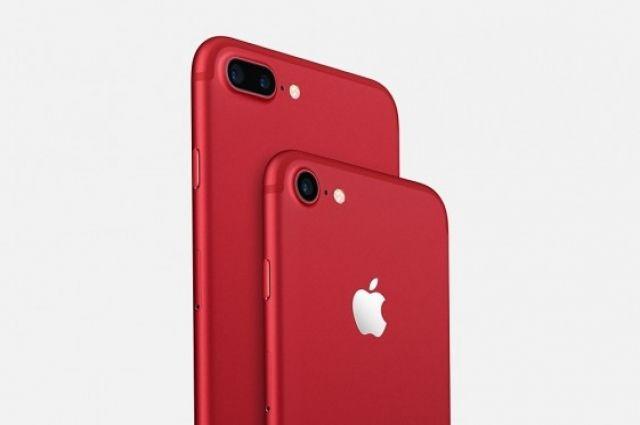 Apple представила лимитированные красные iPhone