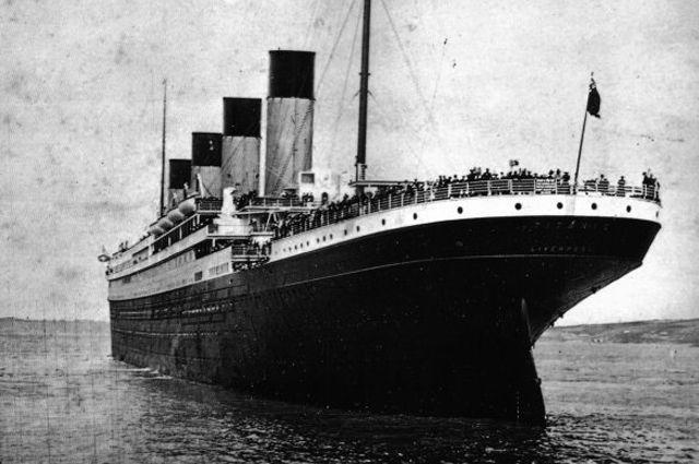 Вид на корму «Титаника».
