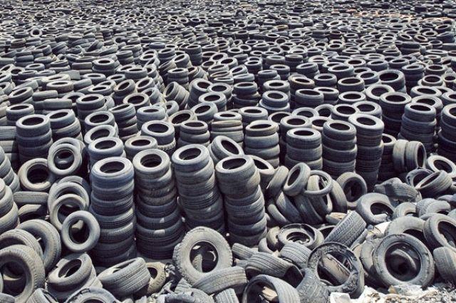 В столице заработали десять пунктов приема изношенных шин