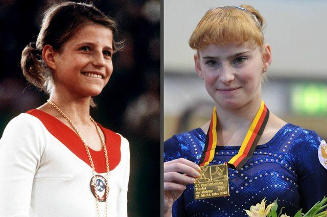 Ольга Корбут и Анастасия Гришина. Фото: