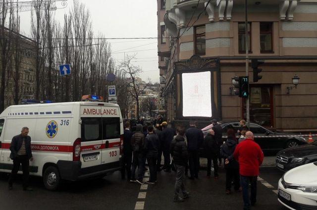 На месте убийства Дениса Воронкова