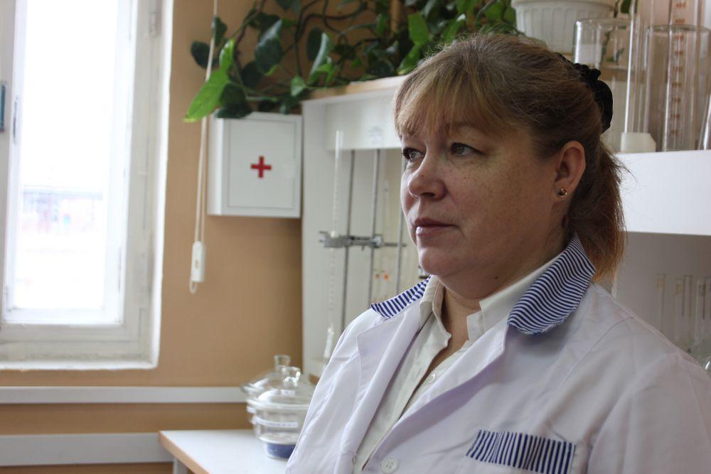 Начальник центральной аналитической лаборатории Алла Пашкова.