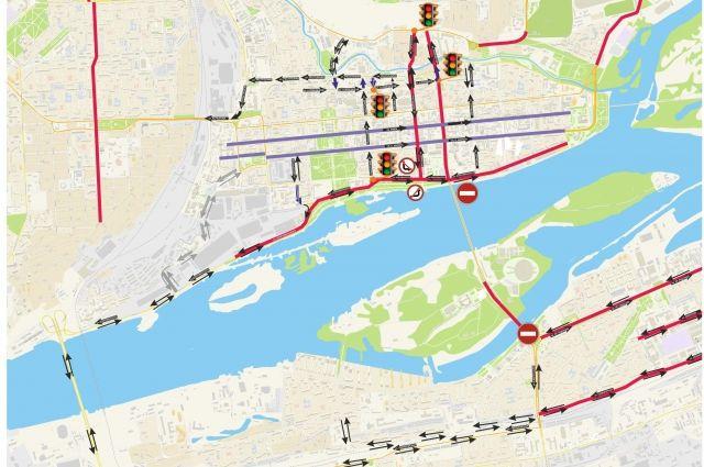 Схема движения транспорта на период ремонта.