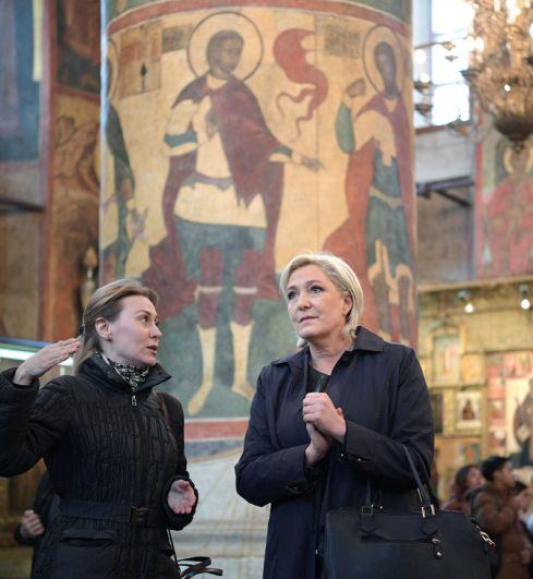 Кандидат в президенты Франции осмотрела достопримечательности, находящиеся на территории Московского Кремя.