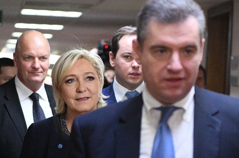 Ле Пен прибыла в Москву по личному приглашению главы комитета Госдумы по международным делам Леонида Слуцкого.