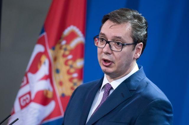 Вучич опровергает членство Сербии вНАТО