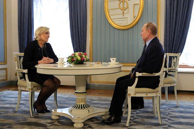 О чём говорили Путин и Ле Пен на встрече в Кремле?