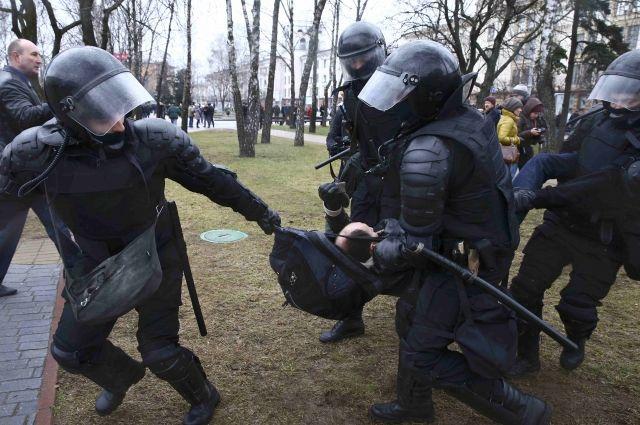 Акция протеста в Минске завершилась задержаниями ее участников
