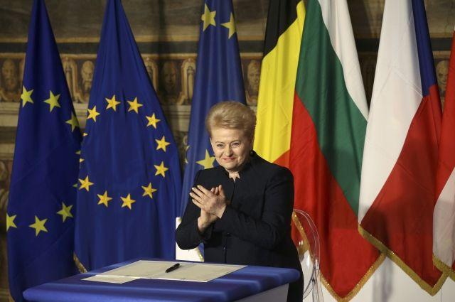 Грибаускайте назвала Россию угрозой для всей Европы