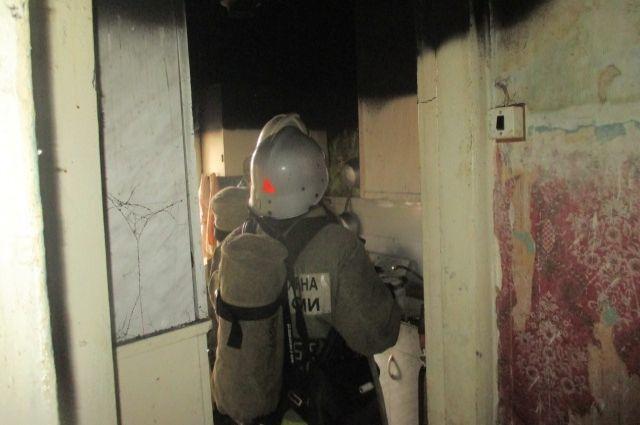 Выгорела одна из комнат.