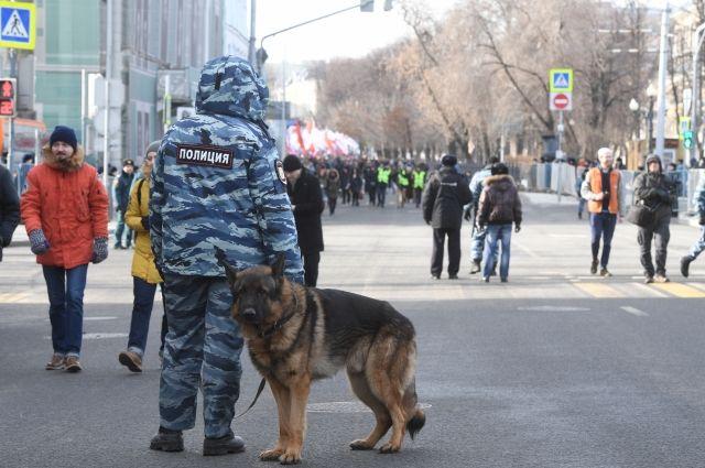 Несанкционированная акция проходит в центре Москвы