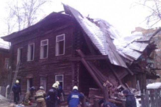 ВЛенинском районе Перми обрушилась крыша нежилого дома