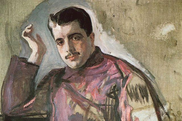 Портрет Сергея Дягилева кисти Валентина Серова, 1904 г.