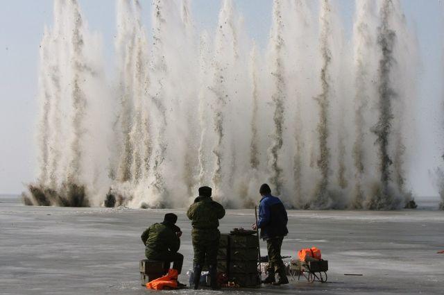 На Томи лед взрывать будут 29 марта в 15:00.
