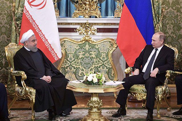 Владимир Путин и президент Исламской Республики Иран Хасан Рухани.