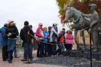 В музее «Красная горка» несколько лет назад появился памятник молодому коногону и шахтёрской лошади. Задумал его поставить именно Михаил Найдов.