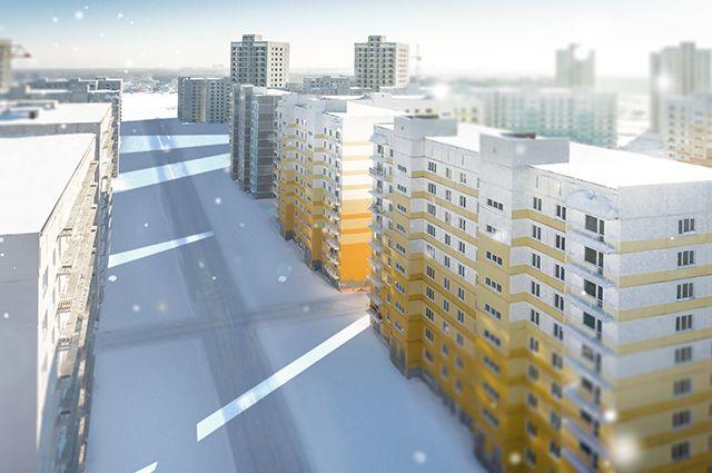 Каждая жилая группа выполнена в своем цветовом решении, что увеличивает разнообразие