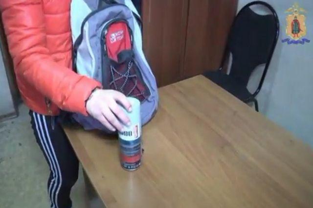 Милиция поймала молодую рязанку, наносившую настены наркотические надписи