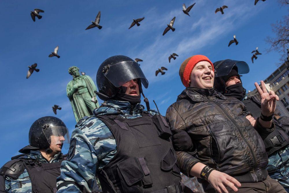 Однако участников митинга задержания не сильно пугали