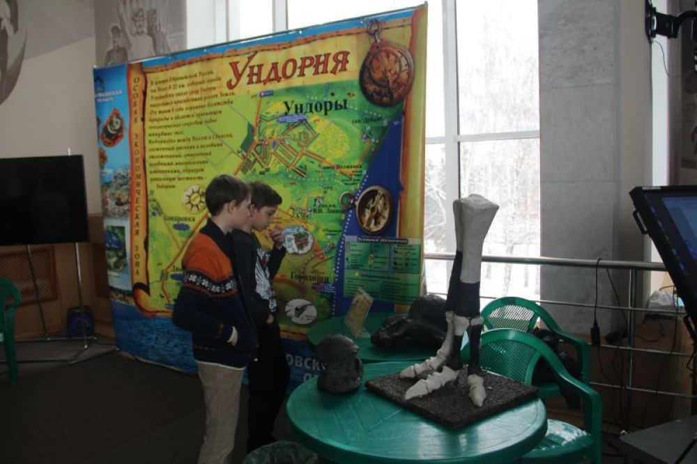 Ундория - площадка ископаемых ящеров.