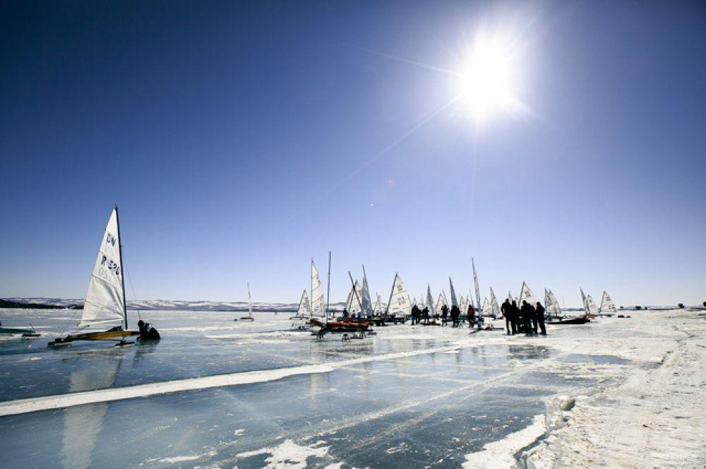 Гонки прошли на Байкале у мыса Уюга.