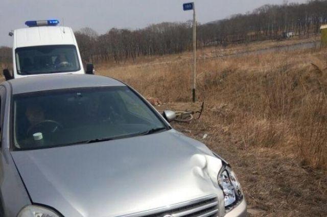 Ребенок-велосипедист умер под колесами автомобиля вПриморье