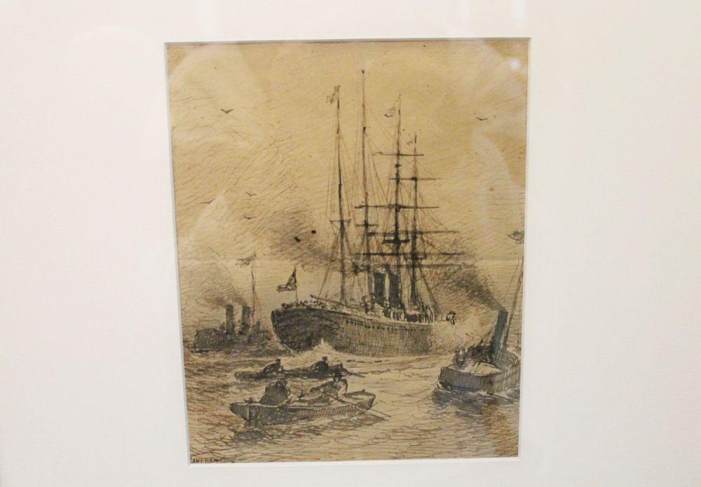 На выставке представлены и графические работы великого мастера.