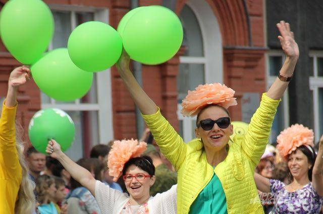Момент иркутского карнавала.