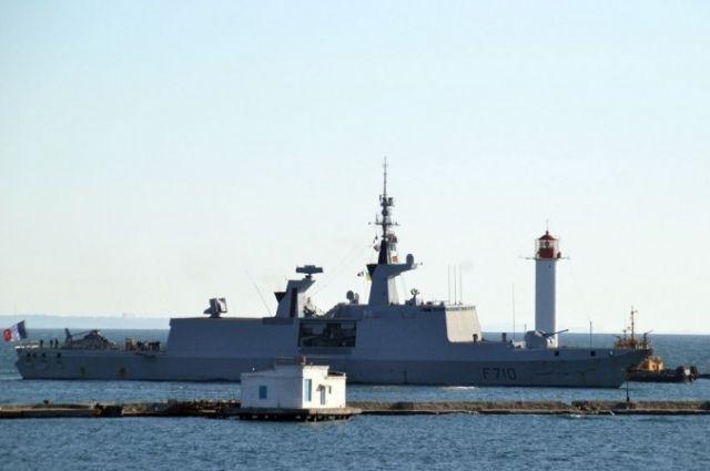 ВОдессу сегодня зашел французский военный корабль. Форепортаж