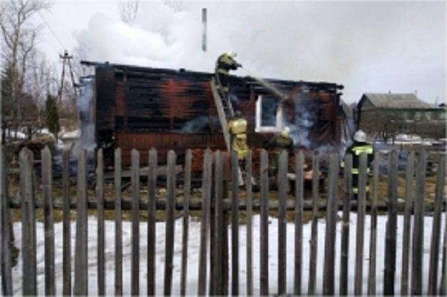 Напожаре вБологое пострадала женщина