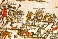 Бой можайских крестьян с французами после Бородинского сражения. Гравюра 1830-х гг.