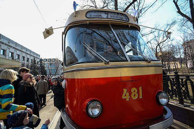 Раритетный трамвай «Татра Т-3 SU».