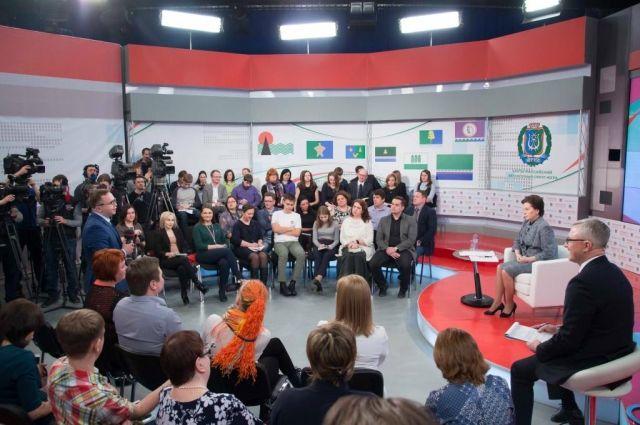За время встречи с журналистами  глава региона ответила на 37 вопросов.