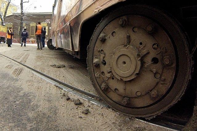 Трамвай попал в ДТП
