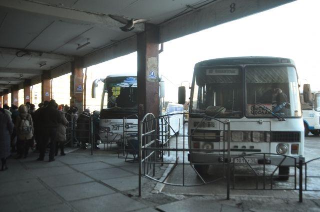 Проход наавтовокзал состороны Степанца закрыт вОмске